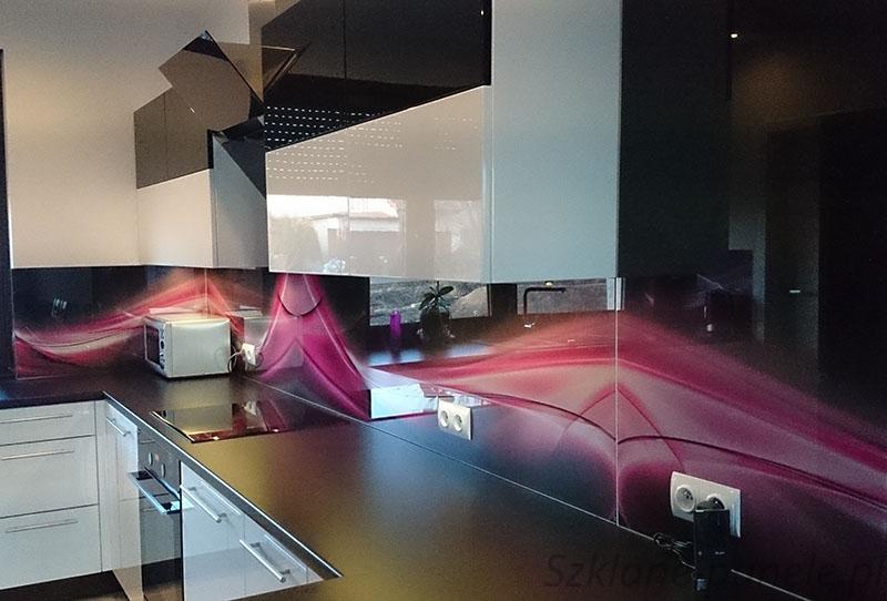 Panel szklany - abstrakcja