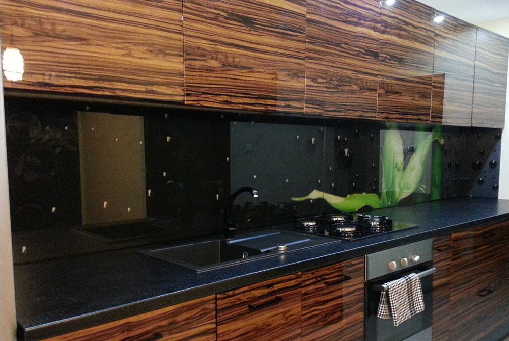 Panel szklany pędy bambusa