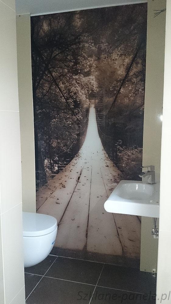Panel szklany - łazienka