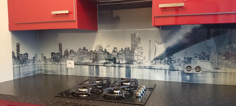 Panel szklany panorama miasta
