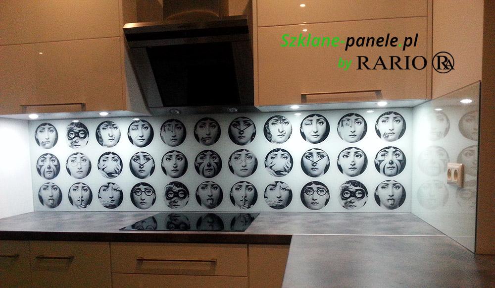 Panel szklany fornasetti