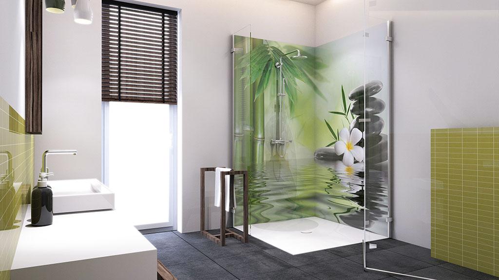 Panel szklany wkabinie prysznicowej