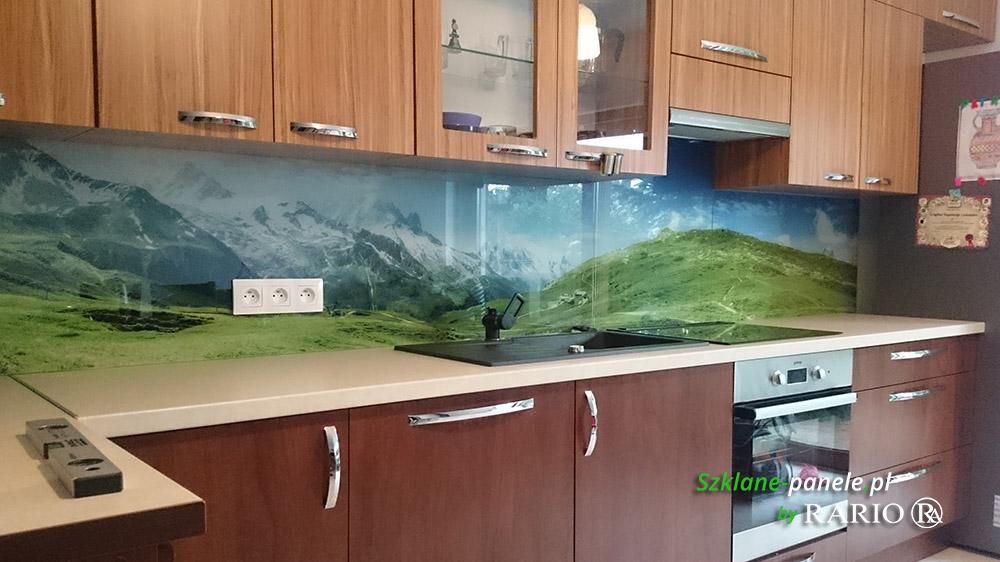 Panel szklany - krajobraz, góry
