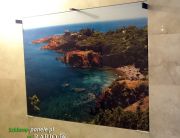 Panel szklany w łazience - plaża