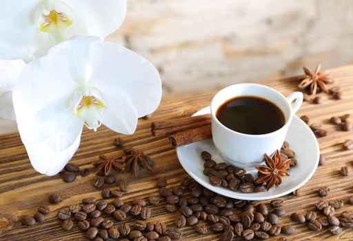 Grafika na szkło - kawa, cynamon