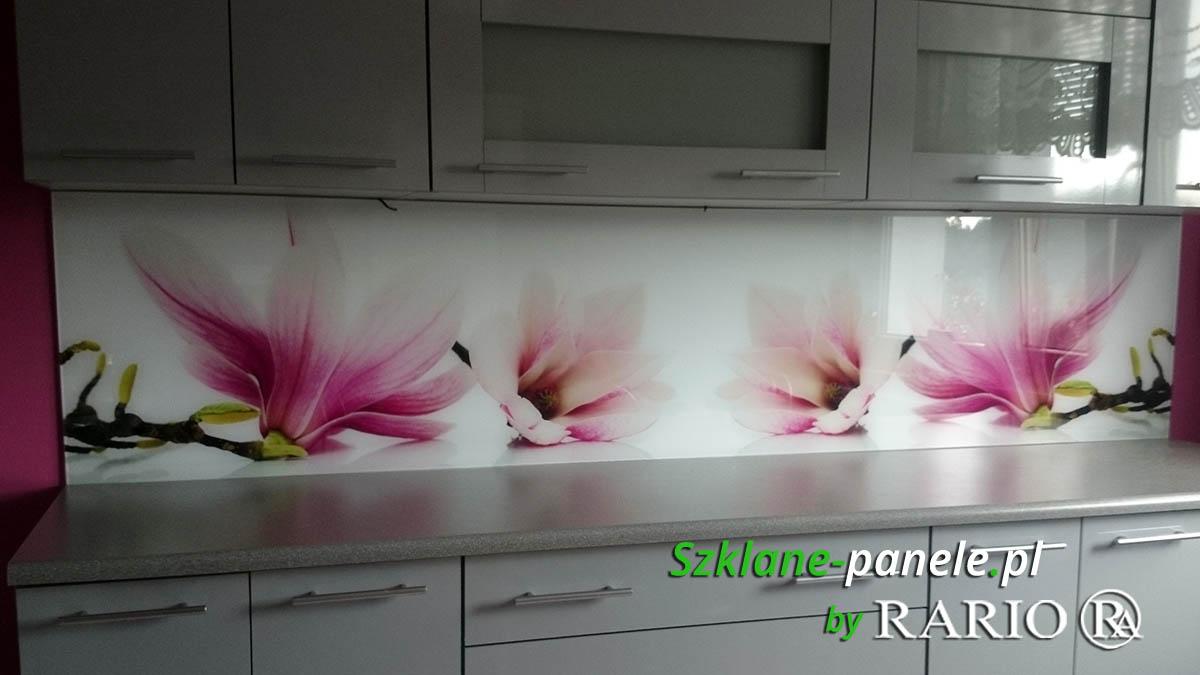 Szkło do kuchni - magnolie