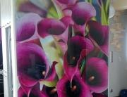 Panel szklany - kwiaty.