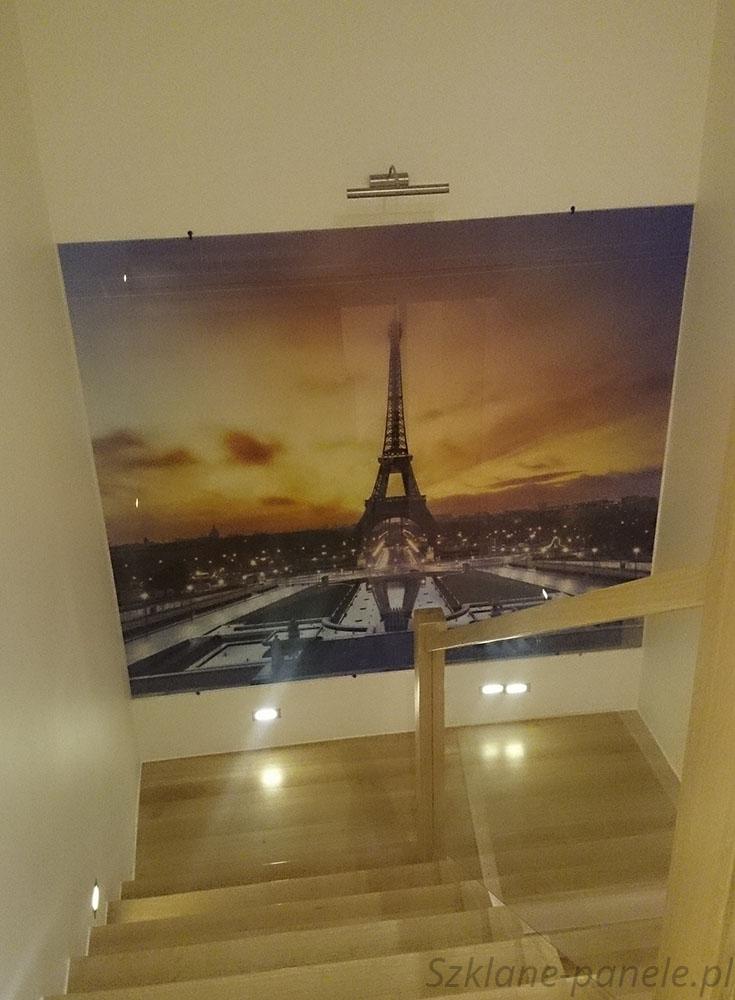 Szklany obraz - Wieża Eiffla