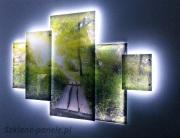 Nowoczesny obraz szklany