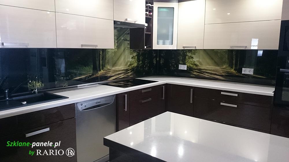 Panel szklany las
