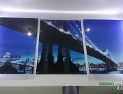 Szklany obraz LED - most