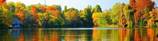 Panele szklane - jezioro