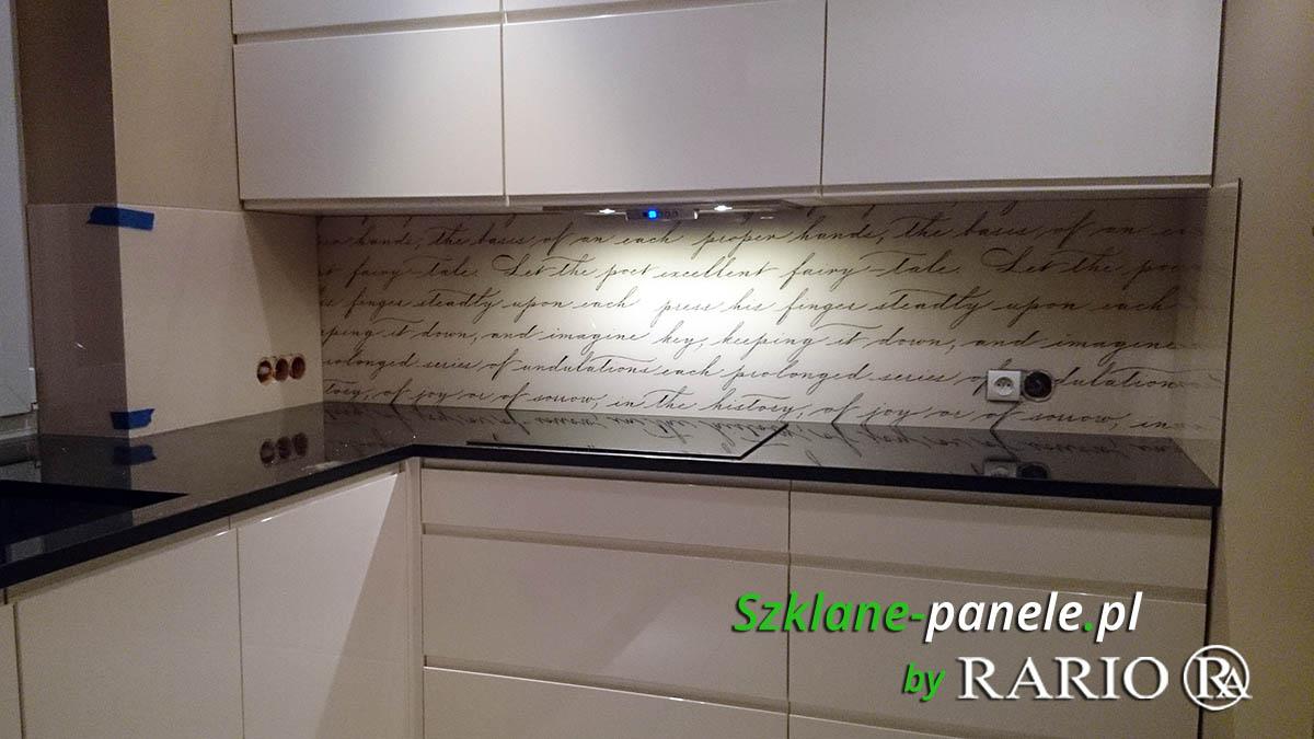 Szkło do kuchni - napisy
