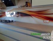 Szklane panele - pomarańcz, abstrakcja